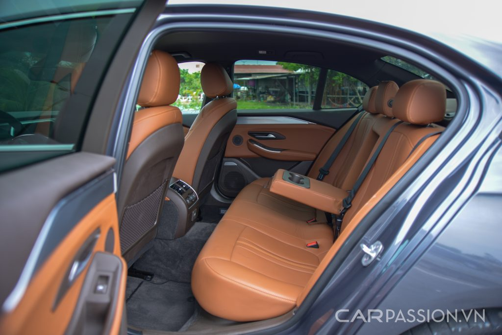 Hàng ghế sau của Vinfast Lux A2.0