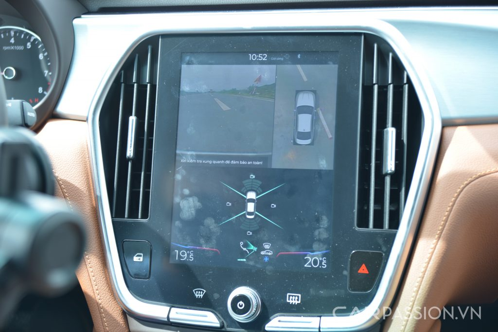 Hệ thống giải trí trên Vinfast Lux A2.0